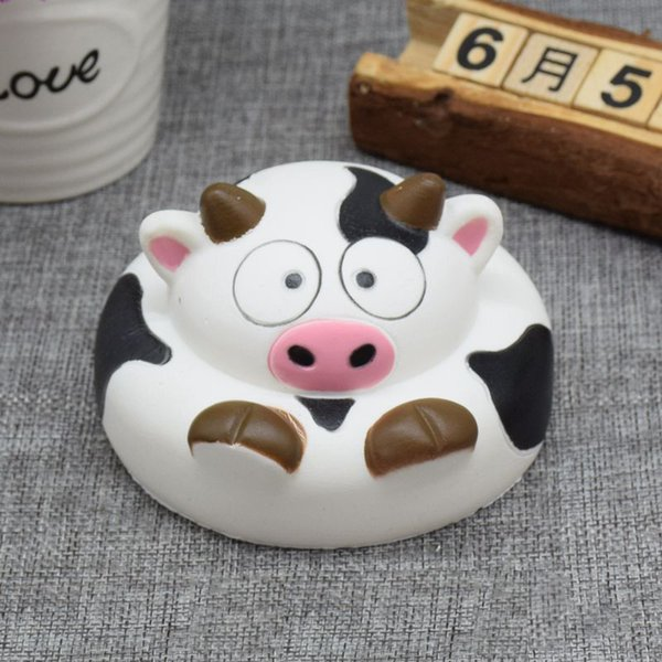 New 20PCS/LOT Kawaii 10CM Jumbo Donuts Cow Squishy Slow Rising Phone Straps Soft Squeeze Bread Charms Scented Kid Toy Gift