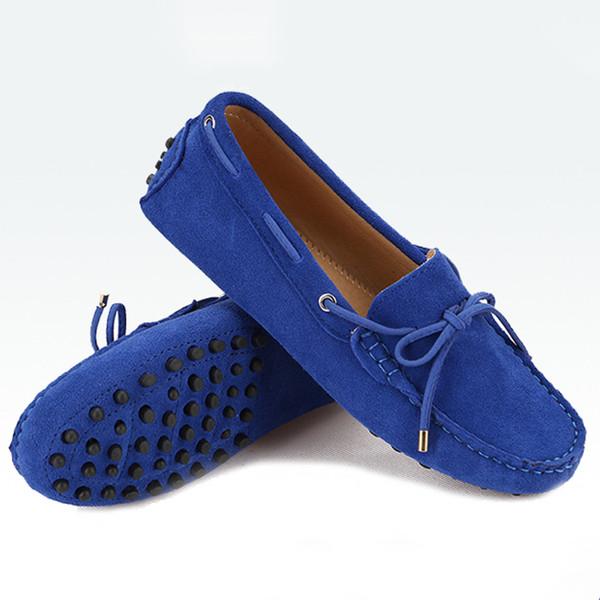 Mode Frau Leder weiblich Flach 17 Farben Casual Loafers Frauen Schuhe Wohnungen Mokassins Lady Driving Shoes