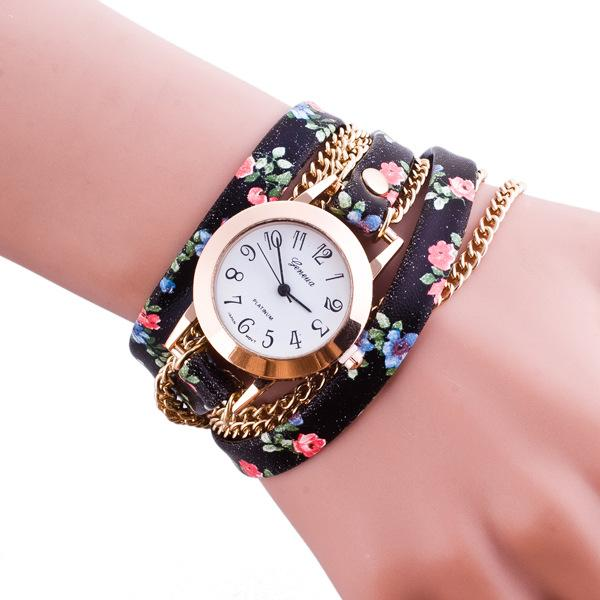 Free shipping wholesale price big shop Ms personality weaving around bracelet watches folk customs in Geneva decoration watches stock watche