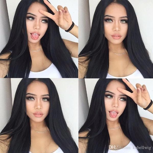 Higher Class Glueless Silk Wig Full Lace Wig Bead Straight Hair The Black Women 100% Senior Malaysian Virgin Hair 100% Silk Weaving Kabell
