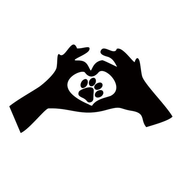 Heißer Verkauf Produkt Für Liebe Pfotenabdruck Katze Hund Interessante Auto Aufkleber Auto Styling Vinyl Aufkleber Autofenster
