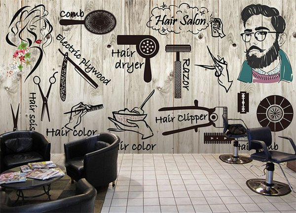 3d Wallpaper For Wall 3d Vintage Barber Hair Salon Makeup Shop Restaurants Large Mural 3d Wallpaper For Living Room Hd Wallpaper Background Hd