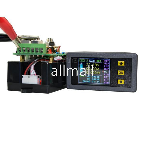 Freeshipping DC 100 V 50A Digital Sem Fio Digital Display LCD Voltímetro Atual Amperímetro Energia Energia Painel Multímetro Tester Monitor de Medidor