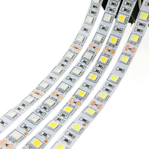 5050 Led RGB Tiras Luces 12V Impermeable Led Cuerda Luces Tiras 5M 300LEDs para Navidad KTV Bar Lighting