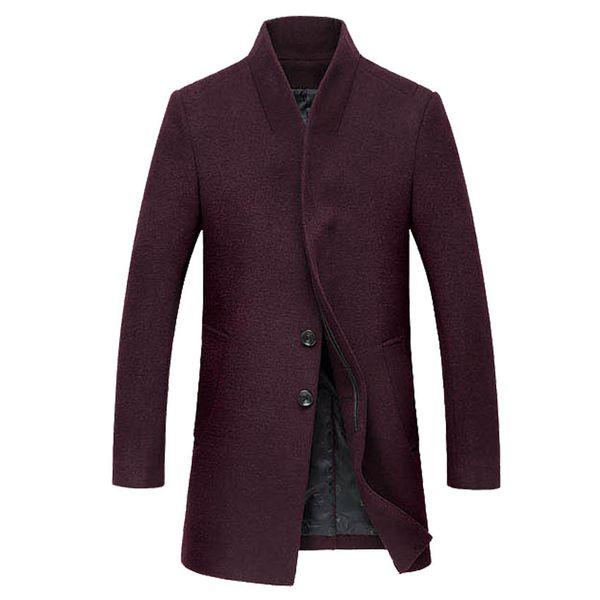 All'ingrosso-Spedizione gratuita Autunno e inverno cappotto di lana da uomo nuovo stile coreano Slim cappotto di lana maschile di lana spessa Windbreaker 140yw