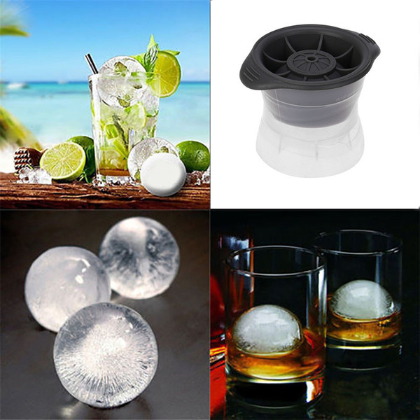 Silicone Round Ice Balls Maker Tray Four Large Sphere Molds Cube Whiskey Cocktails With 2.5 Square Capacity Tool hot search