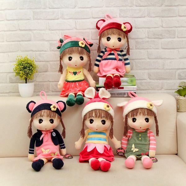 45cm Romantic kawaii stuffed dolls plush baby kids toys for girls cloth dolls gifts dolls girls dress beautiful soft for baby