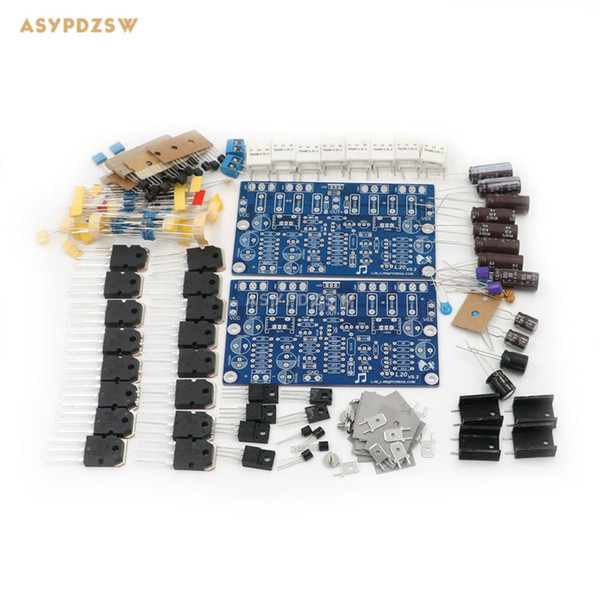 Freeshipping 2 PCS/lot Hi-end L20 (2 channel) Audio stero power amplifier DIY Kit 200W 8R V9.2