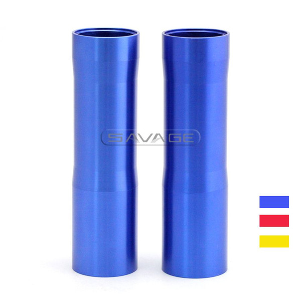 For YAMAHA MT07 FZ07 MT-07 FZ-07 2014 2015 2016 Gold Motorcycle CNC Aluminum Front Fork Tube Slider Cover Gold Blue Red