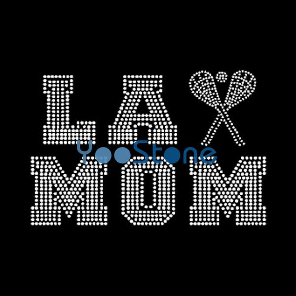 Wholesale Diy Tool Lacrosse Mom Rhinestone Transfer Iron On Hotfix Motif Designs