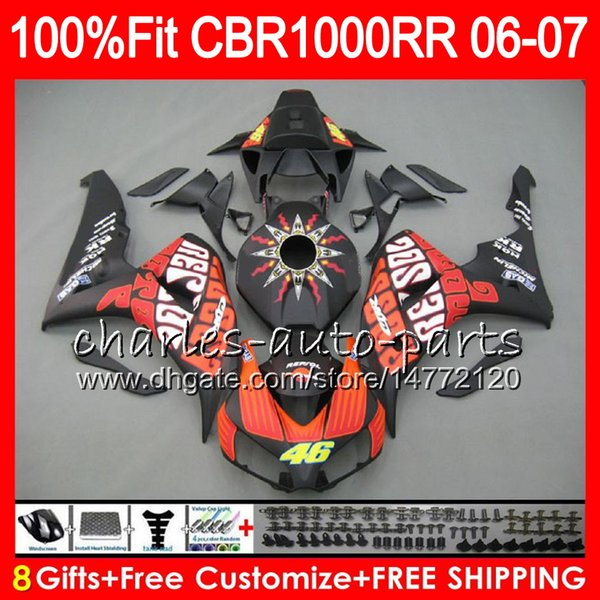 Injection Body For HONDA CBR 1000RR CBR1000 RR Matte Repsol 06 07 Bodywork 78NO37 CBR1000RR 06 07 CBR 1000 RR 2006 2007 Fairing kit 100% Fit