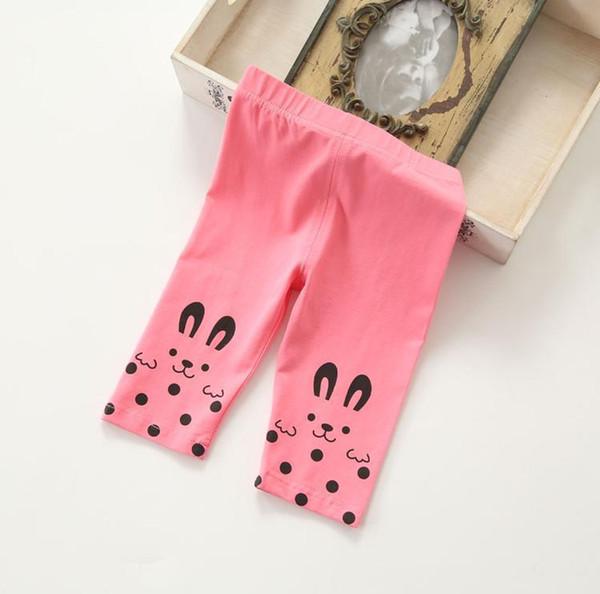 Summer Baby Girls Leggings Polka Dot Rabbit Leggings Cotton Children's Leggings & Tights Melee for 2t-6t 4 colors
