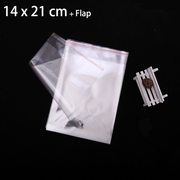 """50pcs 14 x 21cm Crystal Clear Poly Cello Bag 5.51"""" x 8.27"""" Self Adhesive Seal Opp Plastic Bags Jewelry Packaging"""