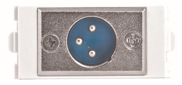 Großhandels-Mic Mikrofon 3 Pin XLR Stecker Modular, XLR Wand Faceplate, Mikrofon module226, Combo Wandplatte, weiße Frontplatte Steckdose