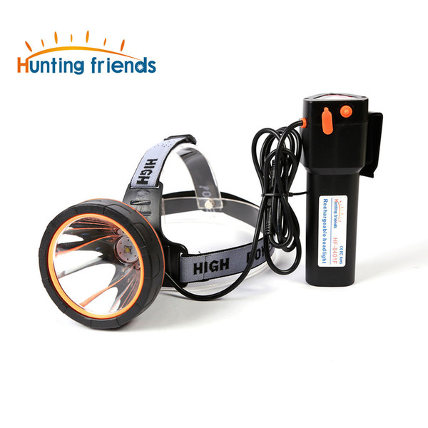 Hunting friends Powerful Headlight Super Bright Head Lamp Rechargeable Headlamp Waterproof LED Headlight for Hunting Fishing
