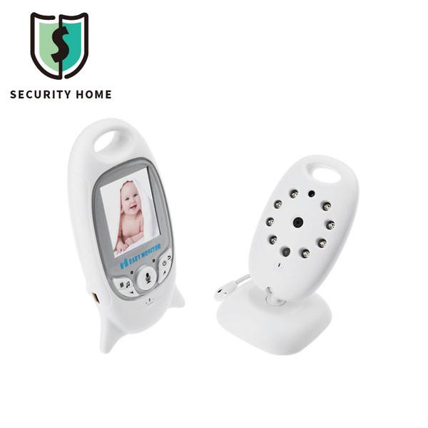 Venta al por mayor de vídeo sin hilos de la cámara de la seguridad del color de 2.0 pulgadas 2 maneras de Talk NightVision IR LED de la supervisión de la temperatura con el monitor del bebé de la cuna de 8