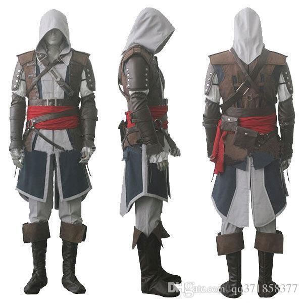 6af5802773aa9 Assassin'S Creed IV 4 Black Flag Edward Kenway Mascot Costume Whole Set  Custom Made Express Shipping Horse Costumes Newborn Costumes From  Lxb341200, ...