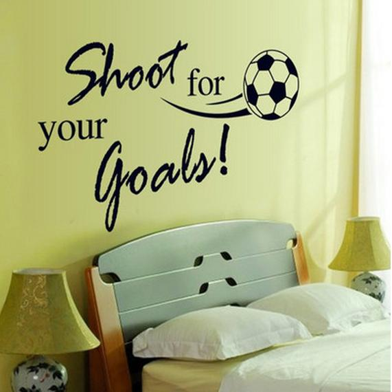 Removable Waterproof Soccer Ball PVC Wall Sticker Shoot For Your Goals  Football Wall Decor For Kids Room Decoration Children Wall Stickers  Childrens ...
