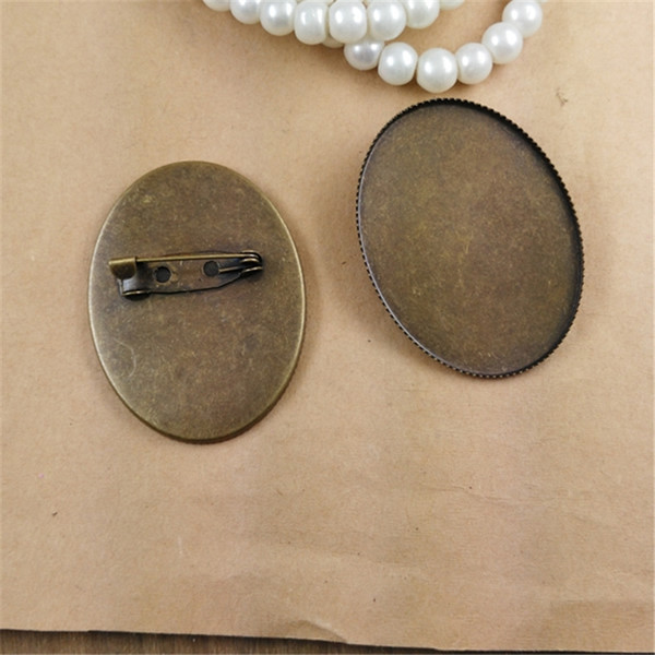 fa7adf7d9 BoYuTe New Product 10Pcs Oval 30*40mm Cabochon Base Blank Settings  Wholesale Antique Bronze Plated