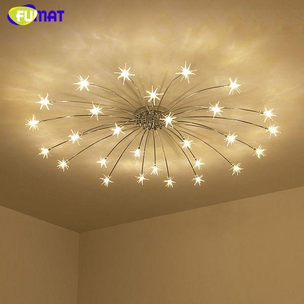 Großhandel FUMAT Moderne Runde G4 LED Kristallglas Sterne Deckenleuchten  Wohnzimmer Deckenleuchten Schlafzimmer Kristall Sternenhimmel Leuchten Von  ...
