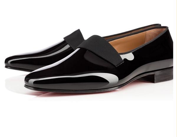 2017 Горячий Дизайн Sapatos Mujer Марка Дизайнер Курильщик Квартиры Обувь Лакированная Кожа Формальные Мокасины Большой Размер Мода Мужчины Кожаная Обувь