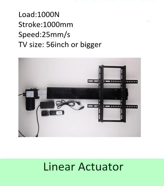 free shipping 1000mm stroke 50''-60'' TV usage wireless tv lift linear actuator can used for cabinet and bed
