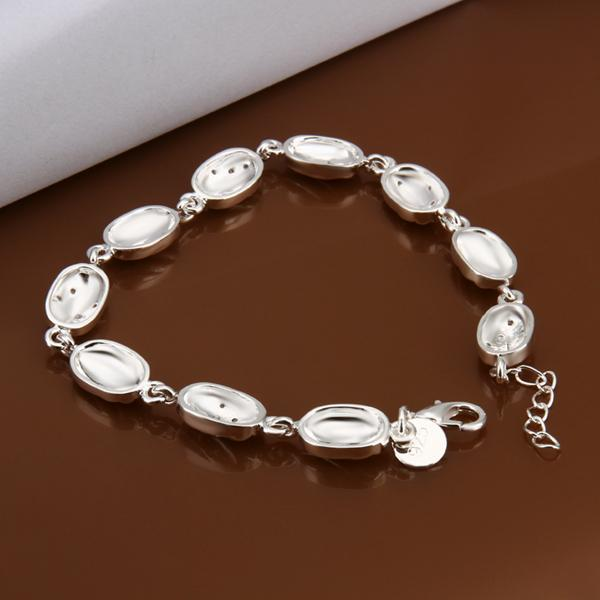 Free shipping Wholesale 925 Sterling silver plated Lobster-claw-clasps charm bracelets LKNSPCH330