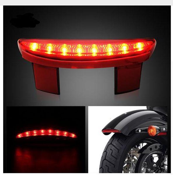 Luci moto per motocicli Parafango posteriore Parafango posteriore LED rosso Motocicleta per Harley Touring Sportster XL 883 1200