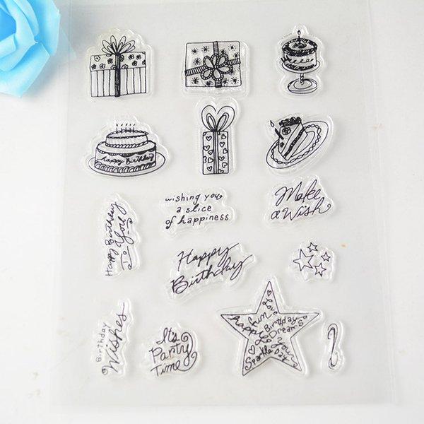 Wholesale 15*18cn Cake Clear Transparent Stamp Diy Scrapbooking ...