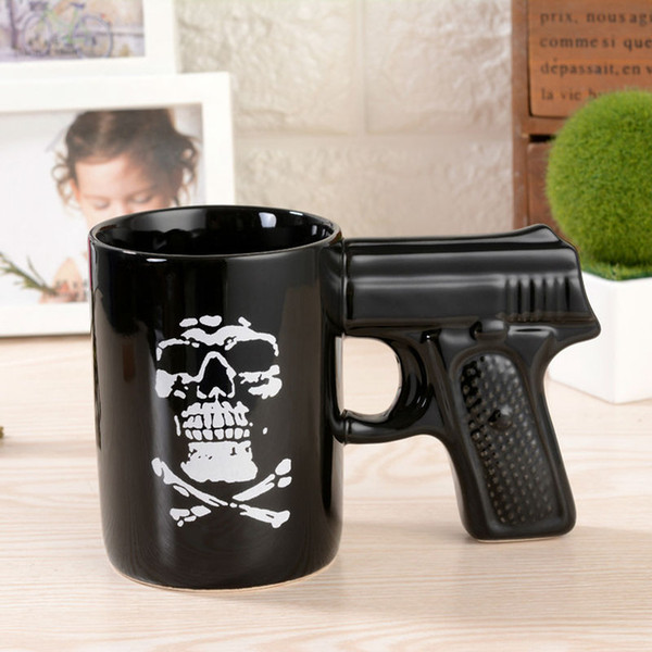 High Quality Pistol Cup Cartoon Mug Coffee Tea Drinking For Creative Gift Sons Of Cool Boy Male Friend