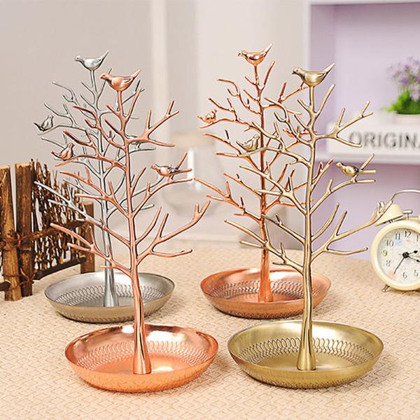 Takı Tutucu / Takı Organizatör, Kuşlar Ağacı Takı Asılı Küpe için Ekran Standı, Kolye, Bilezik Raf Kulesi