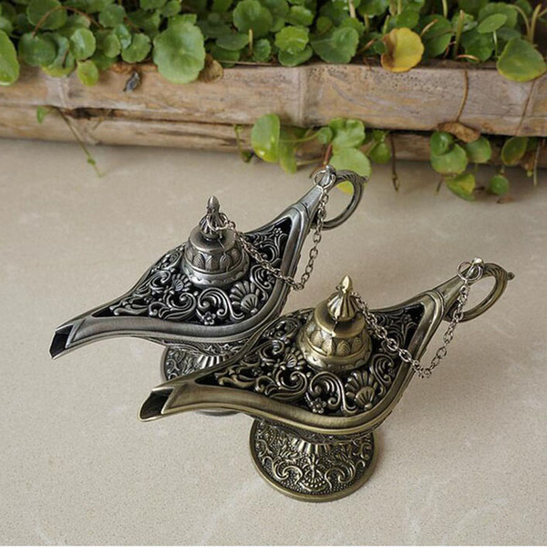 best selling Classic Fairy Tale Aladdins Magic Lamp Tea Pot Genie Lamps European Style For Photography Prop Home Decoration ZA3940
