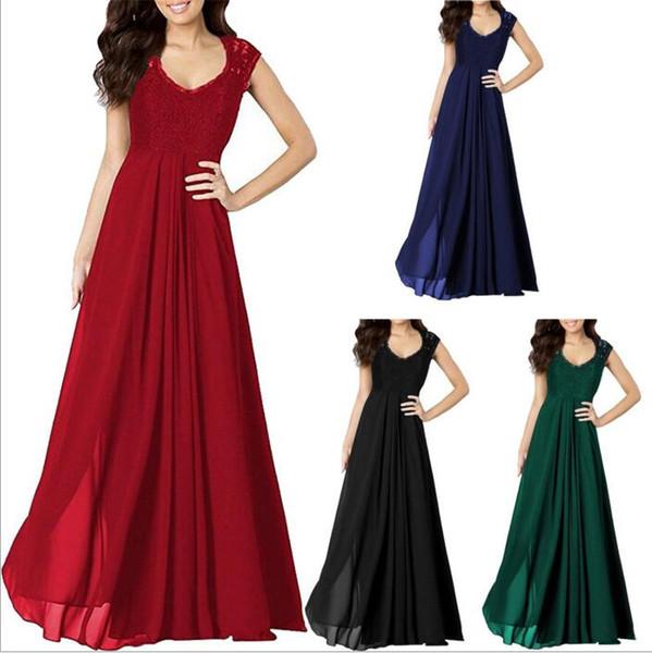 Compre Vestidos Fiesta Retro Vestido Dama Vestido De Fiesta De Encaje Vestido De Dama De Honor Cena De Boda Vestido De Noche Vestidos Elegantes