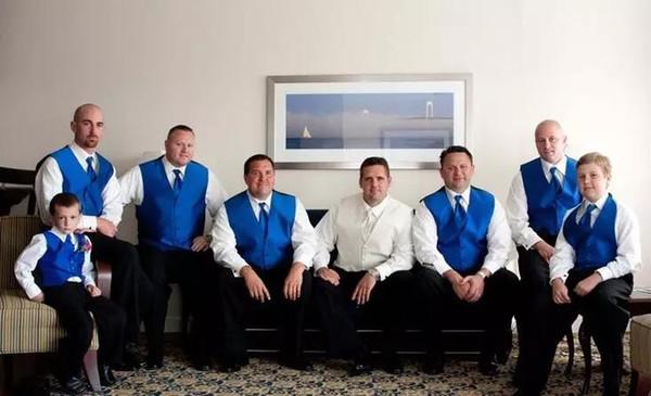 Royal Blue Satin Mens Vest and Pant Formal Suit Vest Prom Tuxedo Jacket Vests Groom Wear Wedding Waistcoat Mens Dress Vests(Vest+Pant+Tie)