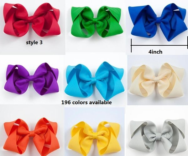 HOT SALE Bow Headband Newborn Elastic Headband Twisted Boutique hair Bow with clip for teens girls kids Hair accessories 30pcs/