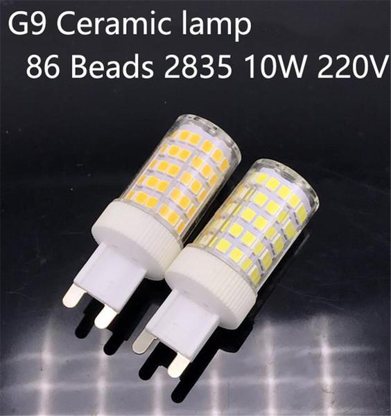 G9 LED 2835 SMD 10W 220V Ceramic 86LEDs Lamp Ceramic Crystal LED Bulb Spotlight Replace Halogen for Chandelier
