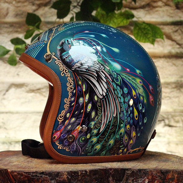 high-class art hot sale motorcycle Helmet FRP Top DIY Painting Customized Handmade Protective Scooter Bicycle Cycling Men Women Kid