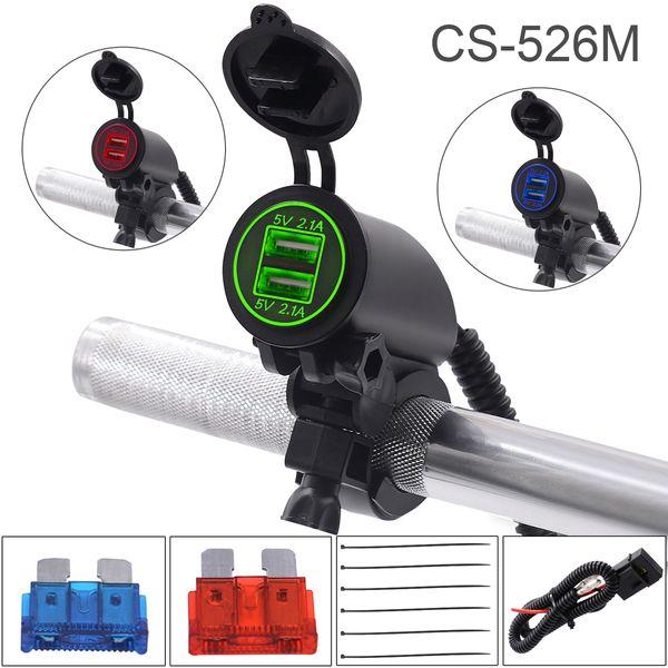 Çift USB Araç Mobil Gidon Şarj Çift Atış ile Motosiklet ATV 21 W 4.2A 5 V CEC_62Y