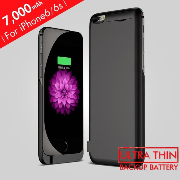 1000mAh Rechargeable Backup Power Case Cover for iPhone 6 External Battery Charger Case for iPhone 6Plus Power Bank Case 8000mAh