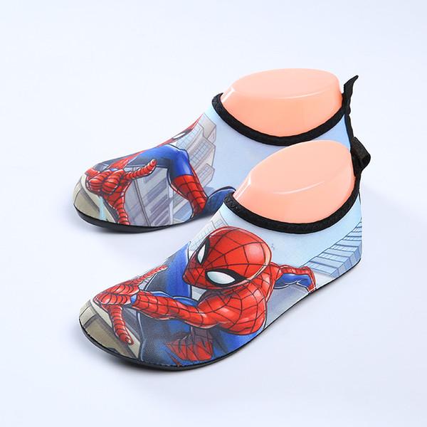 Garçons natation//plage chaussures avec Spiderman Détail