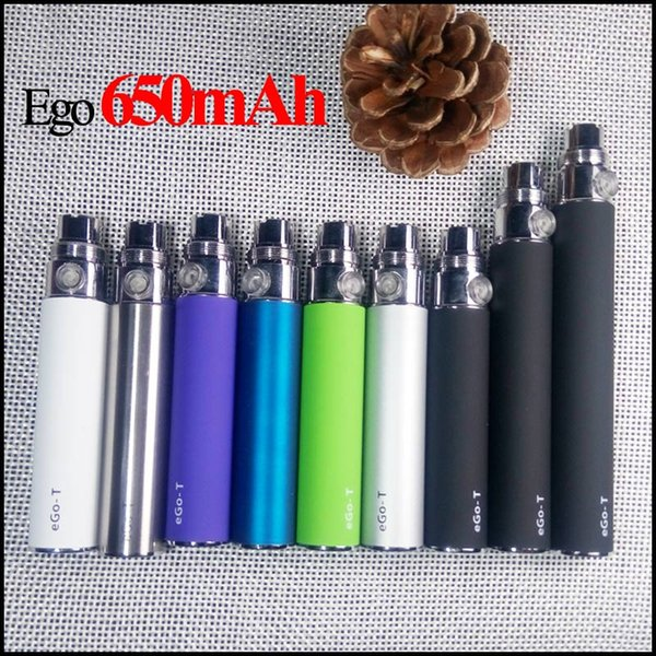 Electronic Cigarette EGO T Battery 650mah 900mah 1100mah For Vape Pen E Cig 510 Thread match CE4 atomizer CE5 clearomizer Evod Mt3 DHL