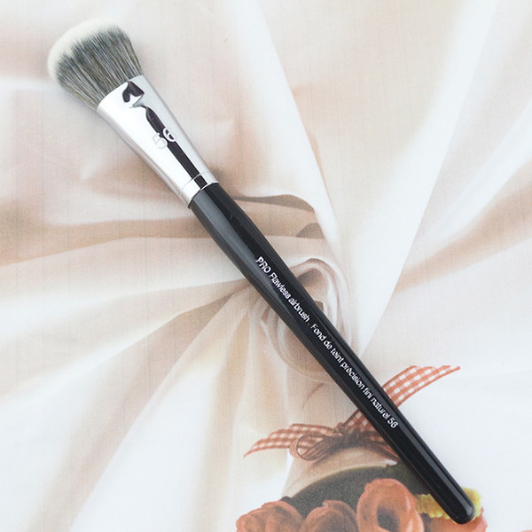 Hot Wood Handle Synthetic Hair Pro Flawless No .56 Fondation Brush Precision Fini Natural Makeup Brushes Tools
