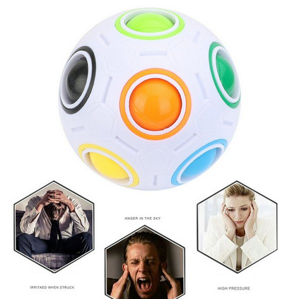 10pcs Rainbow Ball Magic Cube Speed Football Fun Creative Spherical Puzzles Kids Educational Learning Toys games for Children Adult Gifts