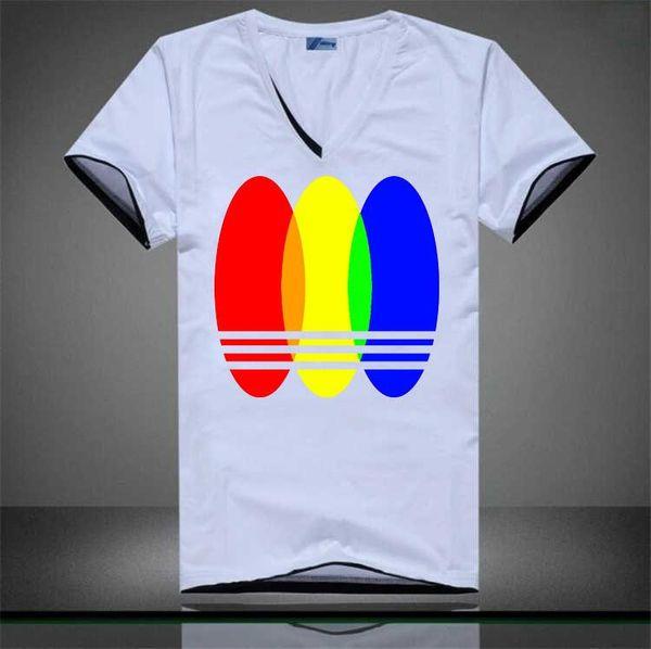 AD Pure Color T-shirt Short Sleeve Men T-shirt V-neck Men Size S-3XL Poloshirts Slim Popular Shirts For Men 2017 Summer New Style.
