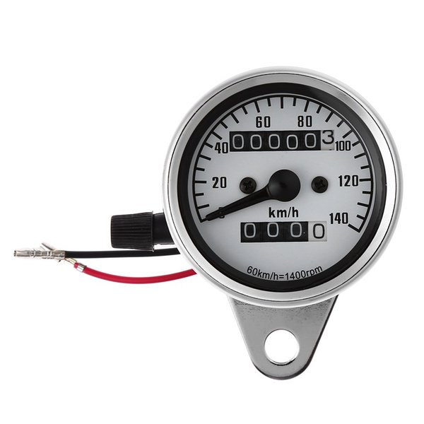 Brand New Universal Motorcycle Dual Odometer Speedometer Gauge Speed Meter Night Light LED Backlight Modification Part