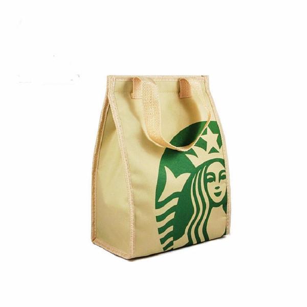 Starbuck refrigerador pacote de saco de isolamento Térmico almoço portátil saco de piquenique espessamento térmica caixa de saco de refrigerador de mama