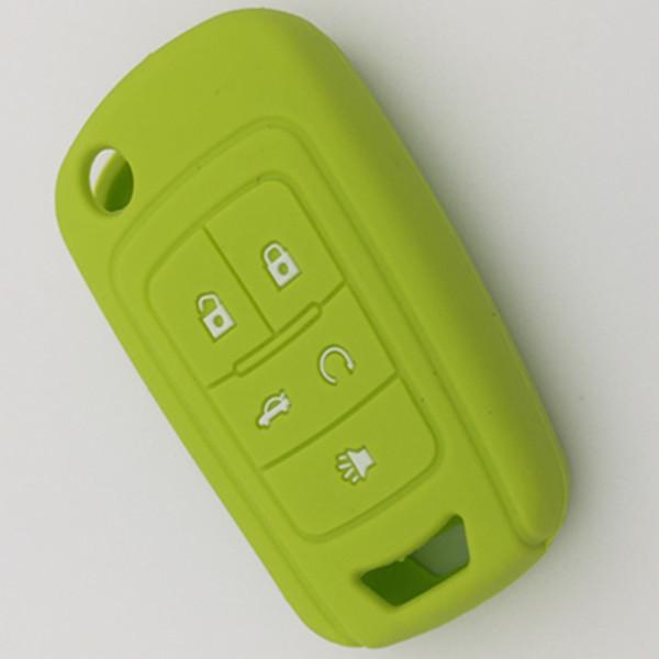 colorful car key protector for chevrolet 5 button remote key blank silicon key cover 50pcs/lot