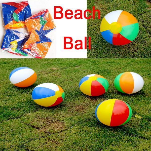 Summer Gift 9 Inch Inflatable Beach Ball Multi-colour Outdoor Beach Ball Water Sports Balloon Water Toys C152Q