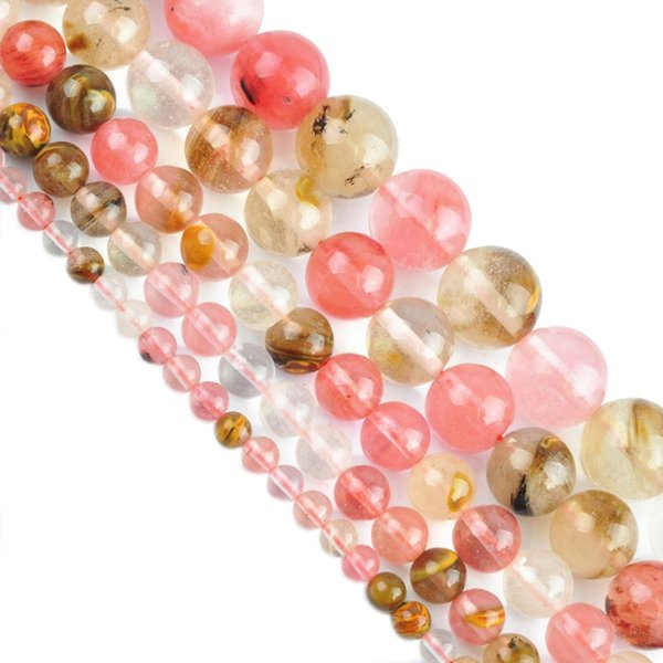 new 5A Quality!Crystal Watermelon Skin Stone Beads DIY jewelry making DIY Semi Product 4mm,6mm,8mm,10 12mm Free Shipping