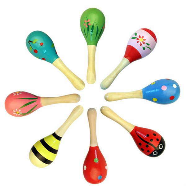 Hot Sale Baby Wooden Toy Rattle Baby Cute Rattle Toys Orff Musical Instruments Educational Toys for 0-1T